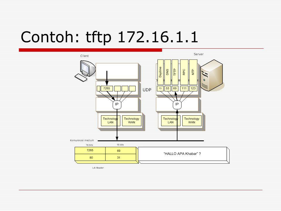 Contoh: tftp 172.16.1.1