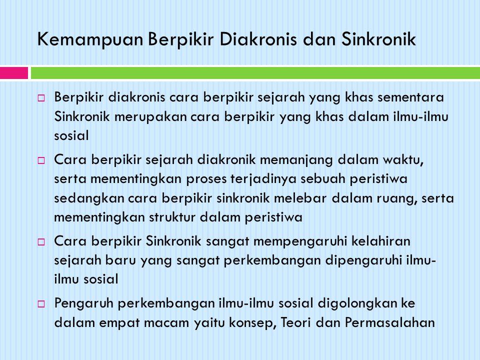 Kemampuan Berpikir Diakronis dan Sinkronik
