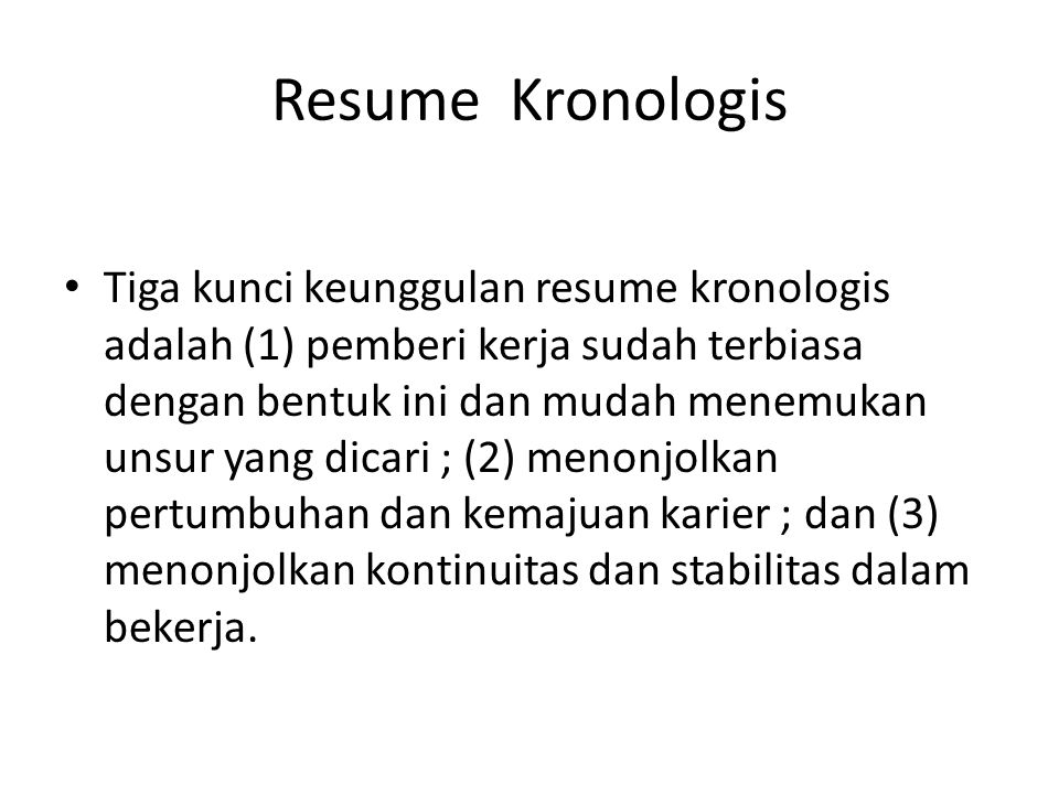 Resume Kronologis
