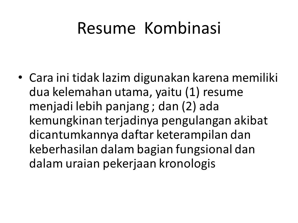 Resume Kombinasi