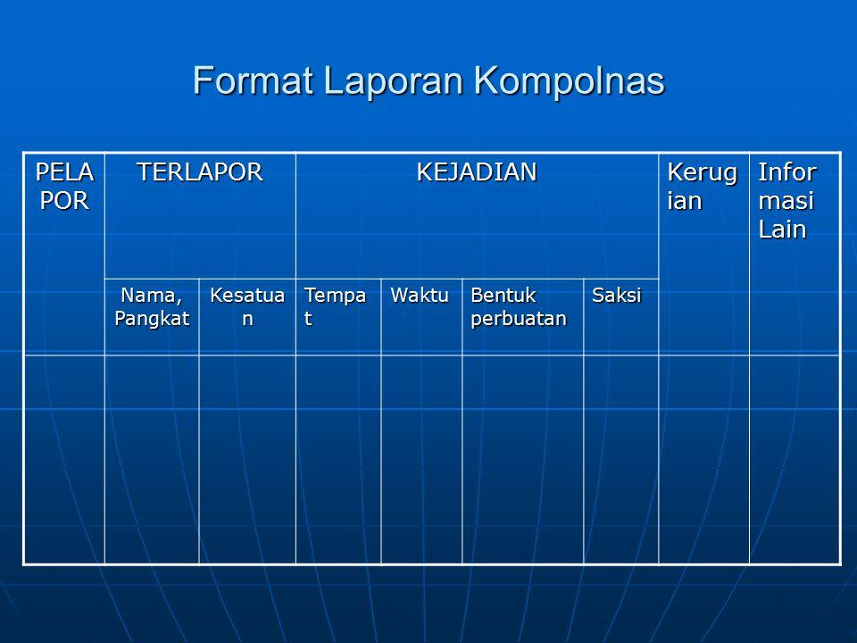 Format Laporan Kompolnas