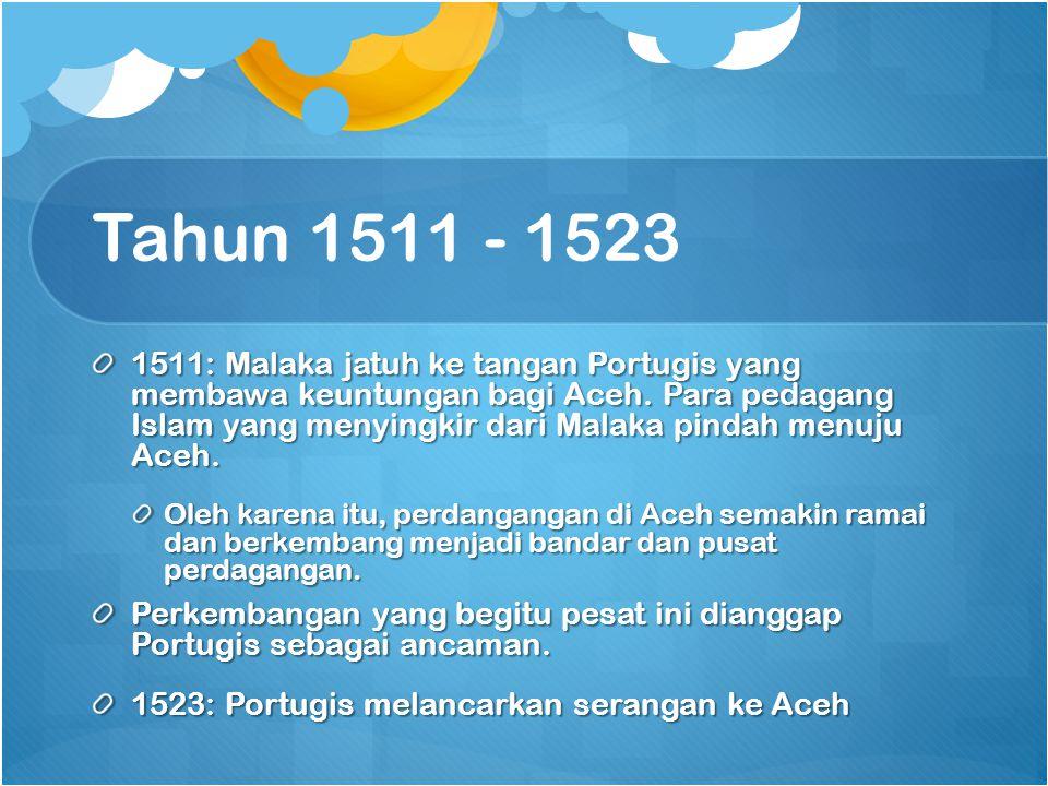 Tahun 1511 - 1523