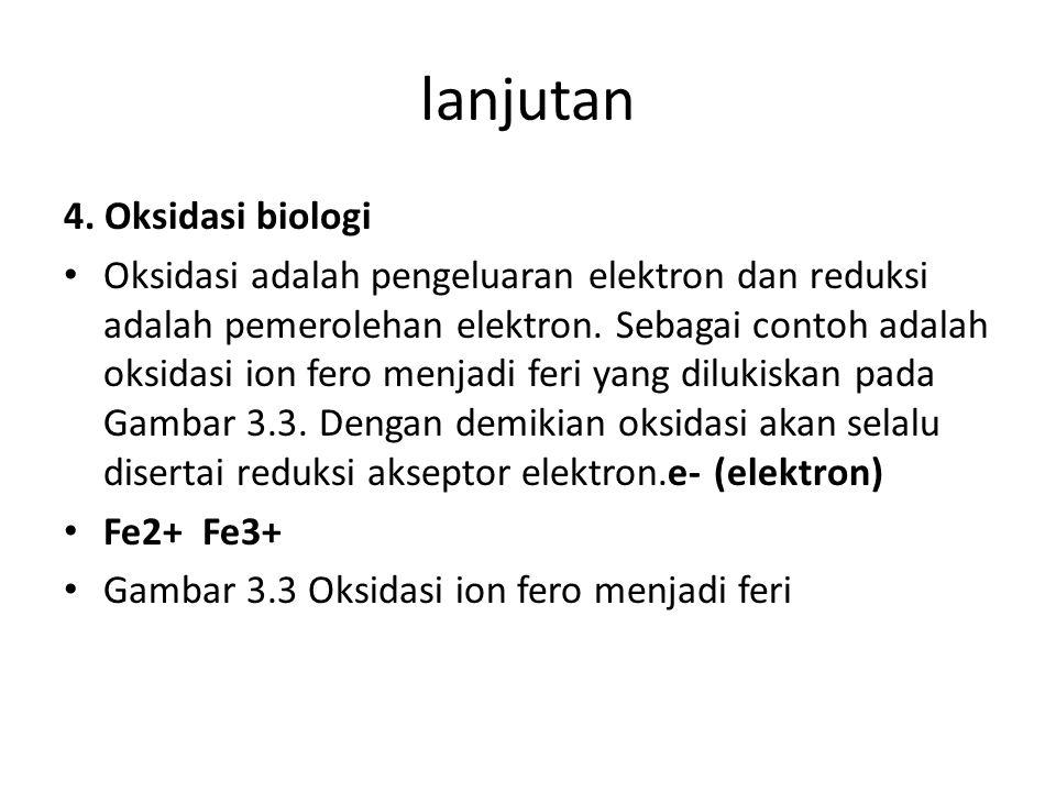 lanjutan 4. Oksidasi biologi