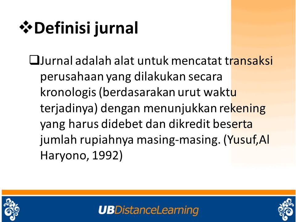 Definisi jurnal