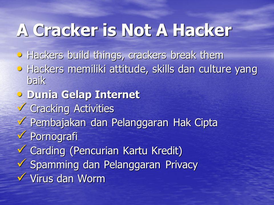 A Cracker is Not A Hacker