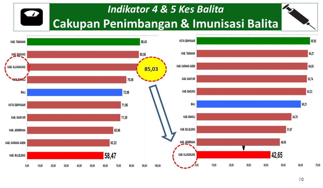 Indikator 4 & 5 Kes Balita Cakupan Penimbangan & Imunisasi Balita