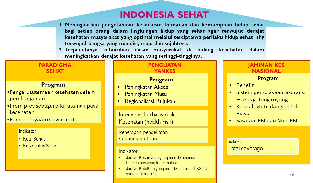 INDONESIA SEHAT Add Your Title Total coverage Program