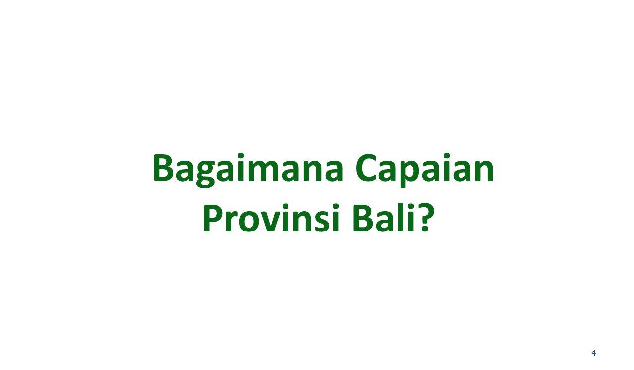 Bagaimana Capaian Provinsi Bali