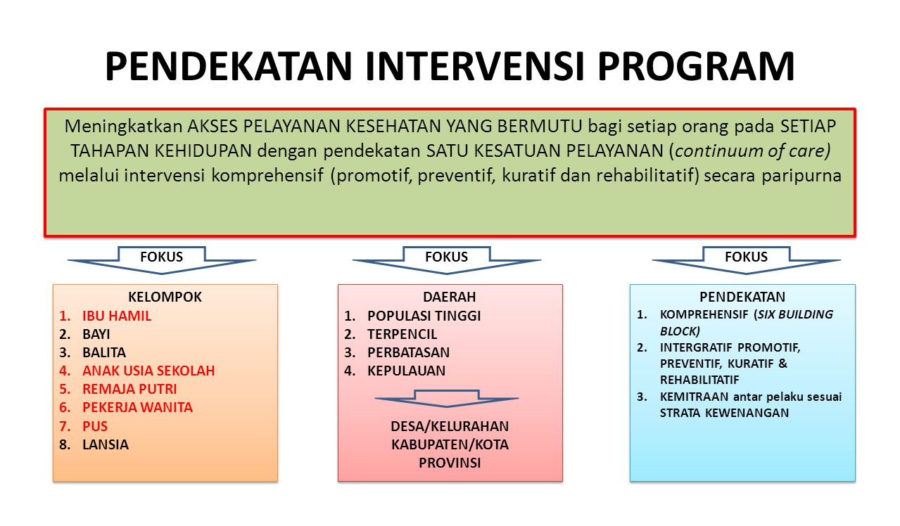 PENDEKATAN INTERVENSI PROGRAM