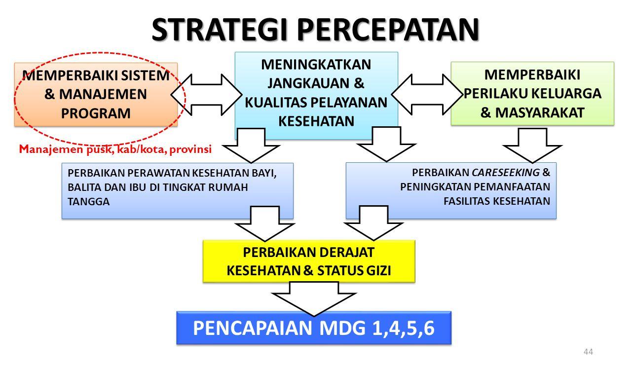 STRATEGI PERCEPATAN PENCAPAIAN MDG 1,4,5,6