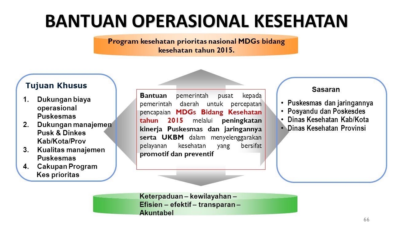 Program kesehatan prioritas nasional MDGs bidang kesehatan tahun 2015.