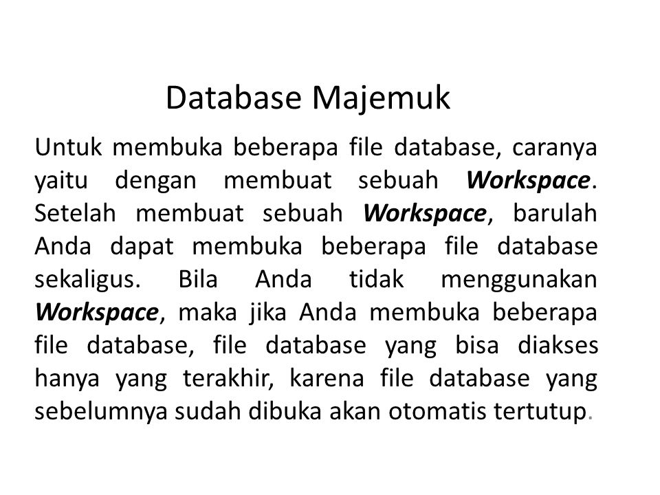 Database Majemuk