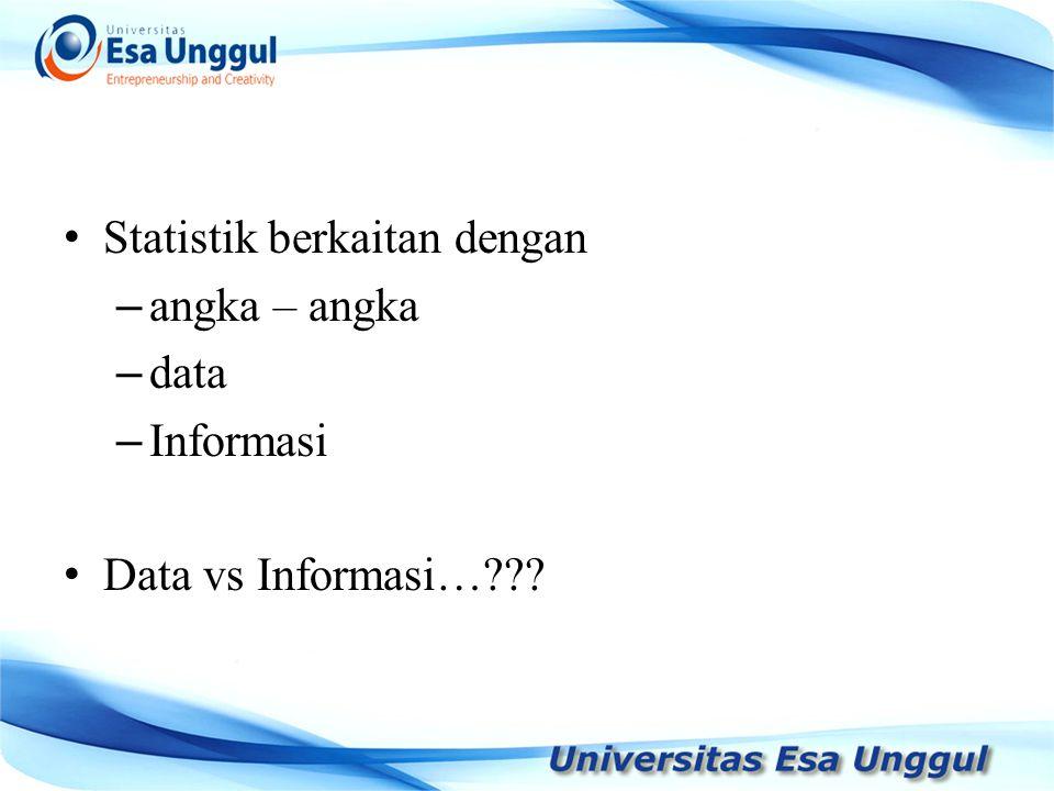 Statistik berkaitan dengan