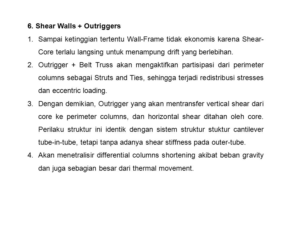 6. Shear Walls + Outriggers