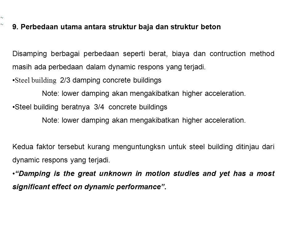 9. Perbedaan utama antara struktur baja dan struktur beton
