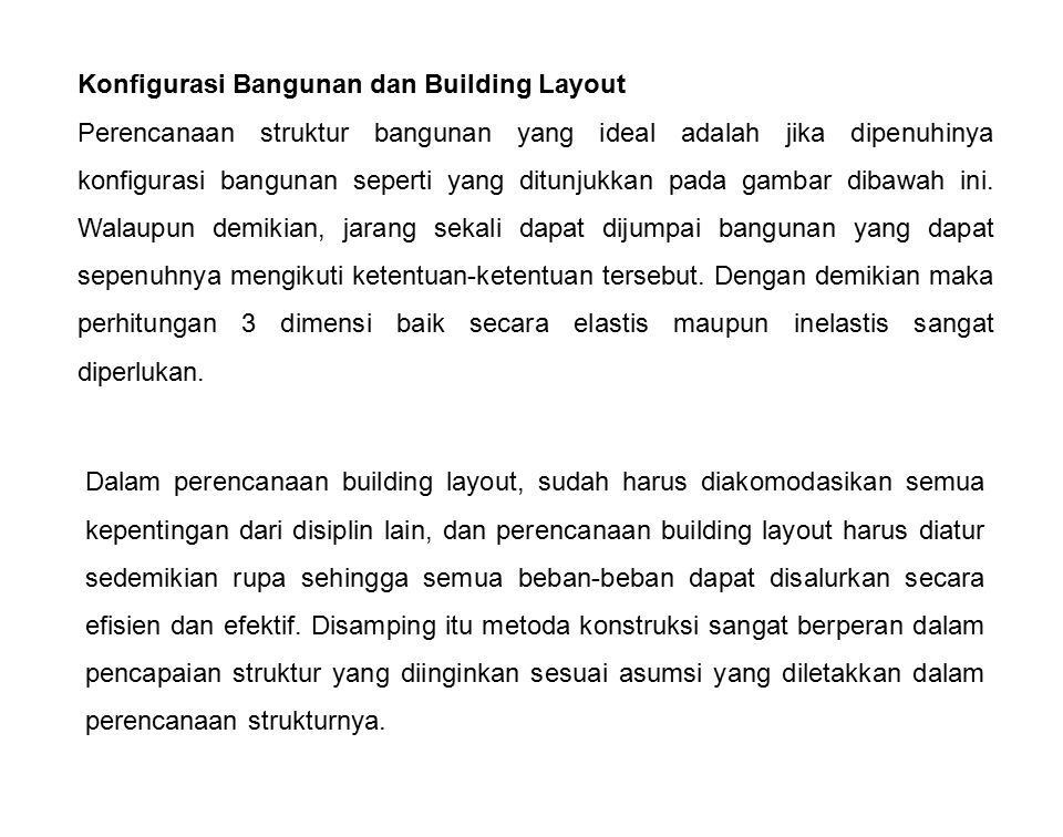 Konfigurasi Bangunan dan Building Layout