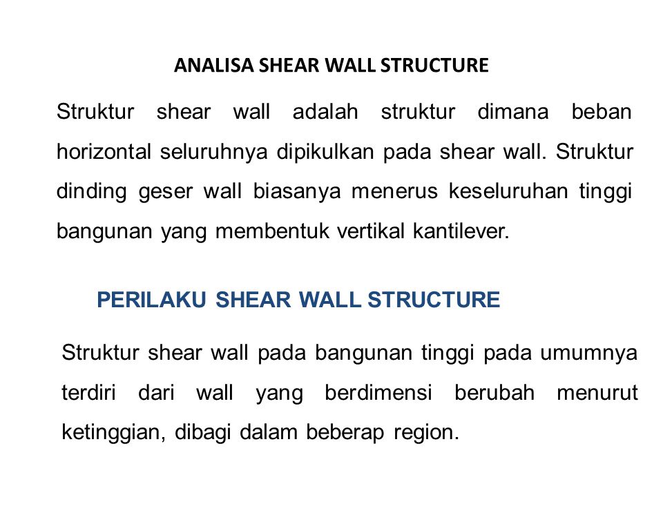 ANALISA SHEAR WALL STRUCTURE