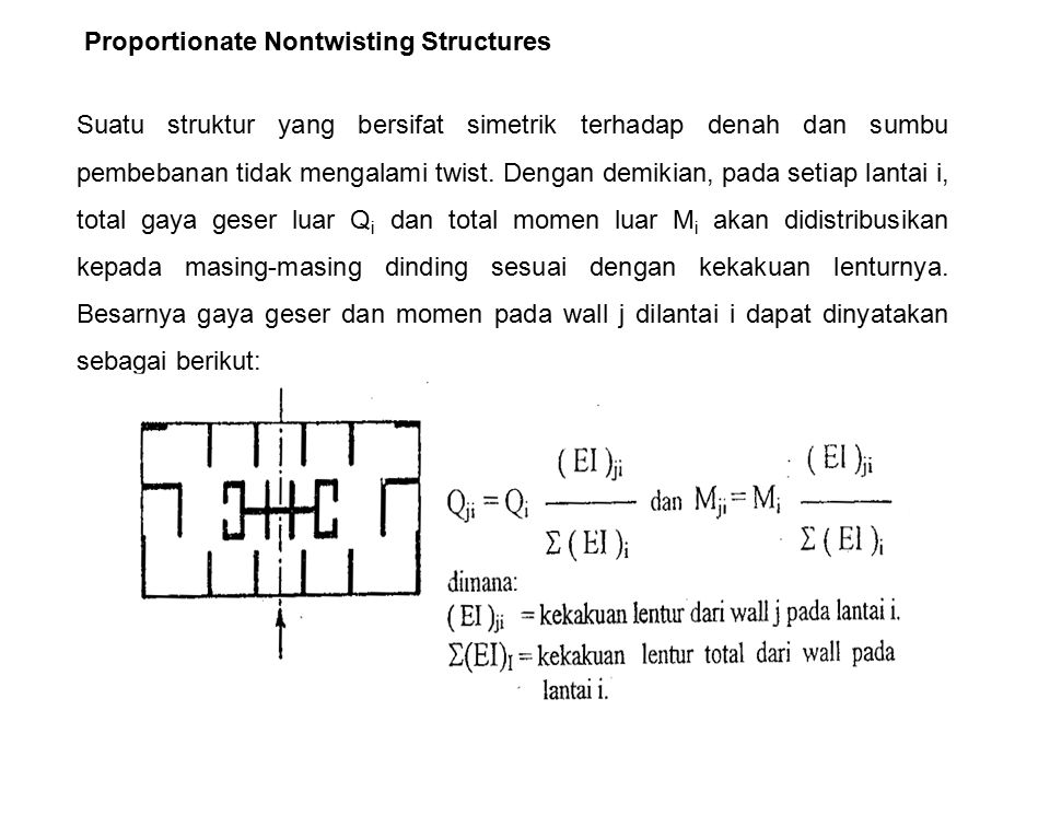 Proportionate Nontwisting Structures