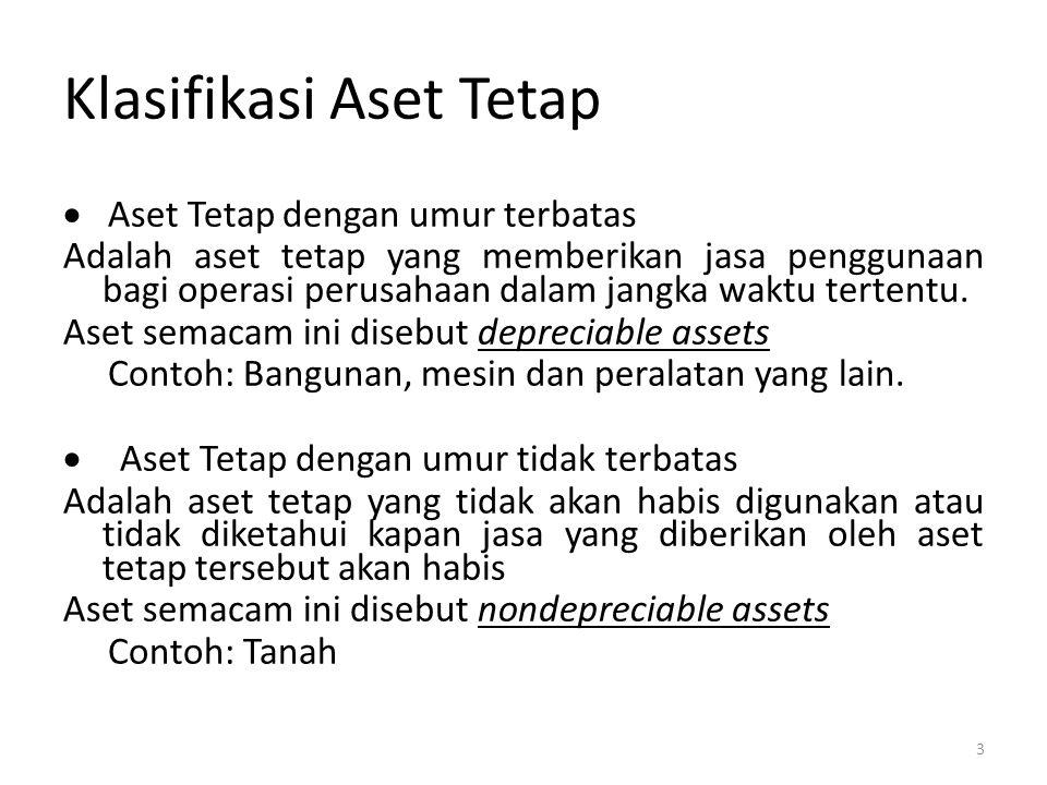 Klasifikasi Aset Tetap
