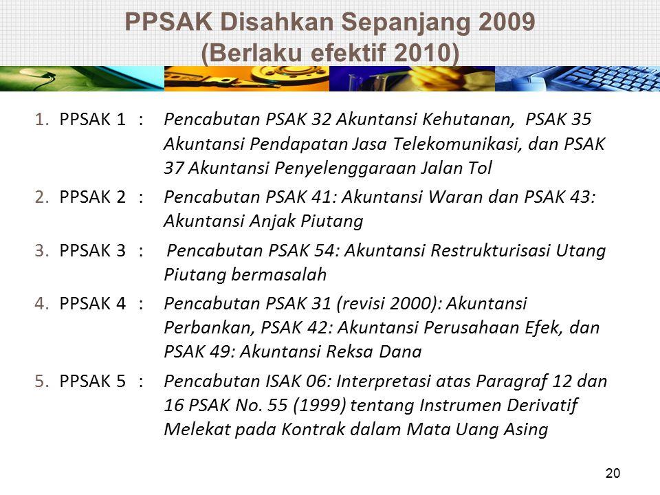 PPSAK Disahkan Sepanjang 2009 (Berlaku efektif 2010)