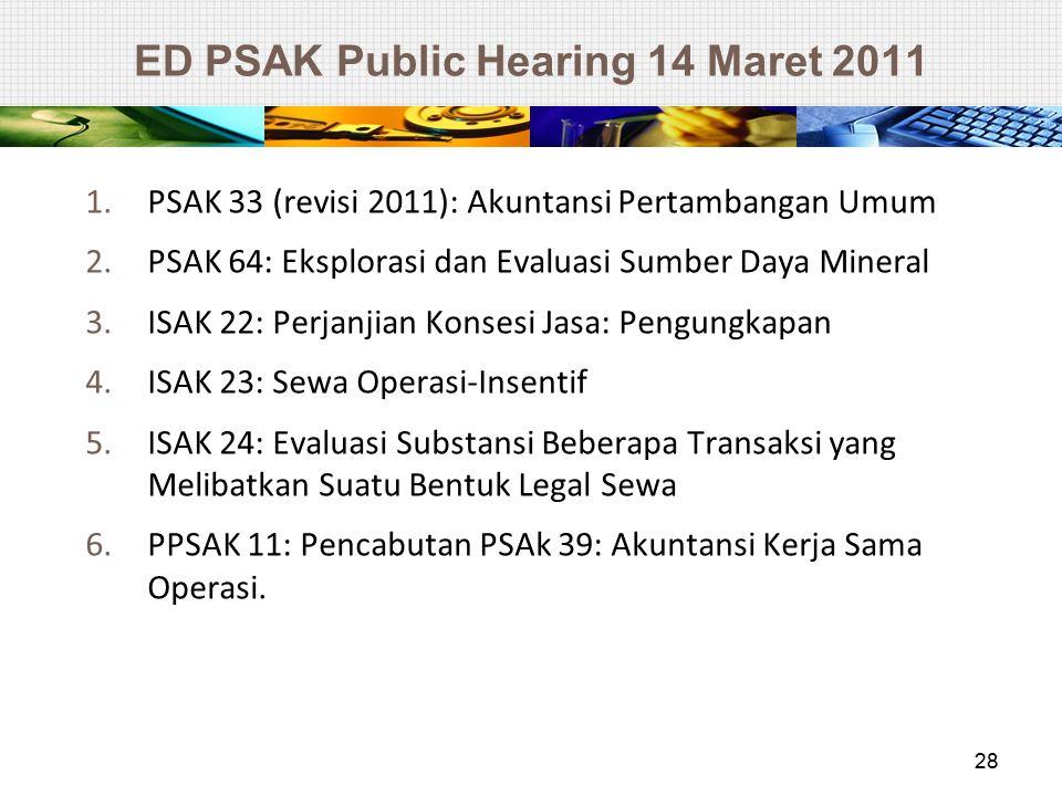 ED PSAK Public Hearing 14 Maret 2011