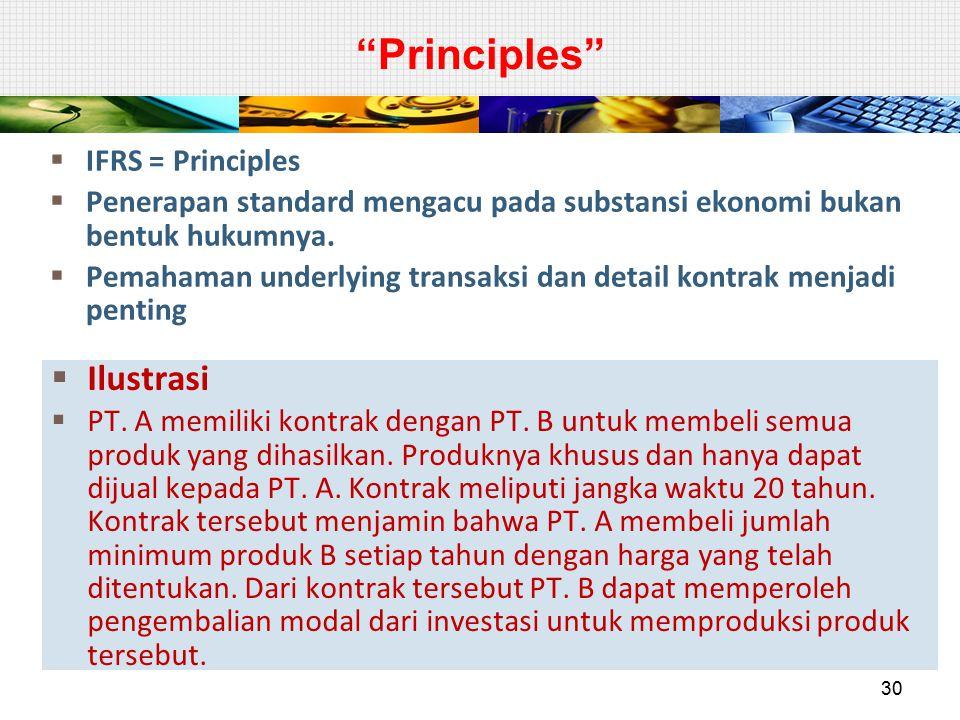 Principles Ilustrasi IFRS = Principles