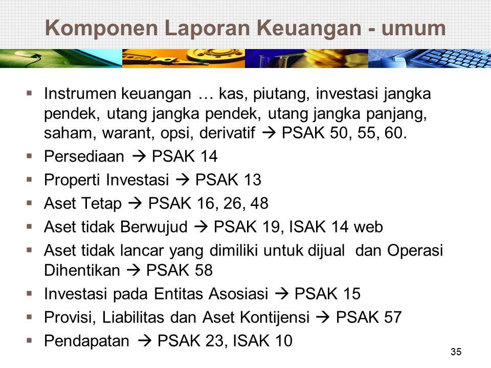 Komponen Laporan Keuangan - umum