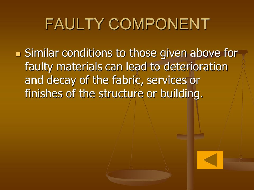 FAULTY COMPONENT