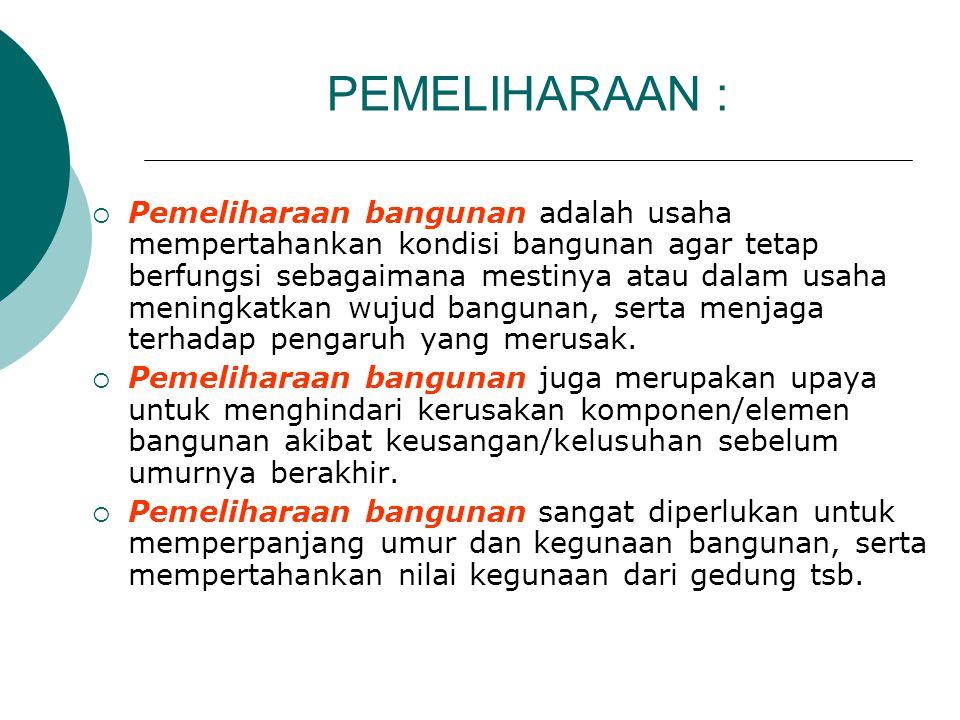 PEMELIHARAAN :