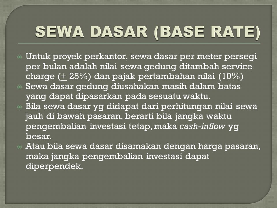 SEWA DASAR (BASE RATE)