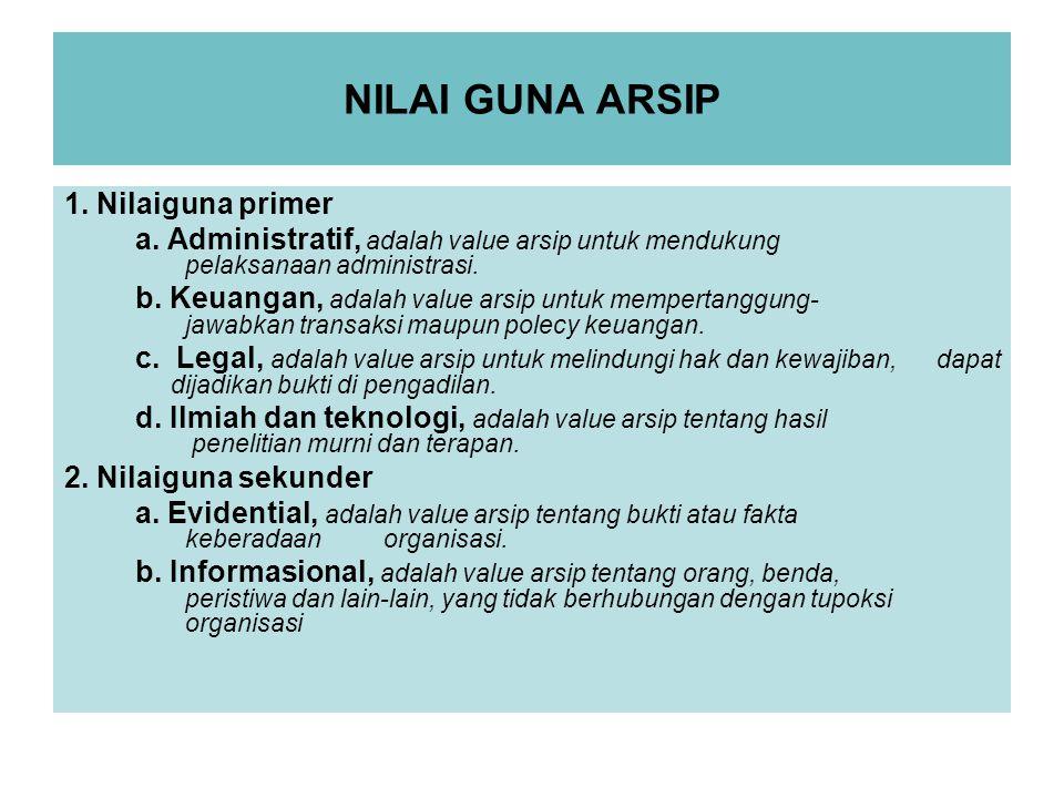 NILAI GUNA ARSIP