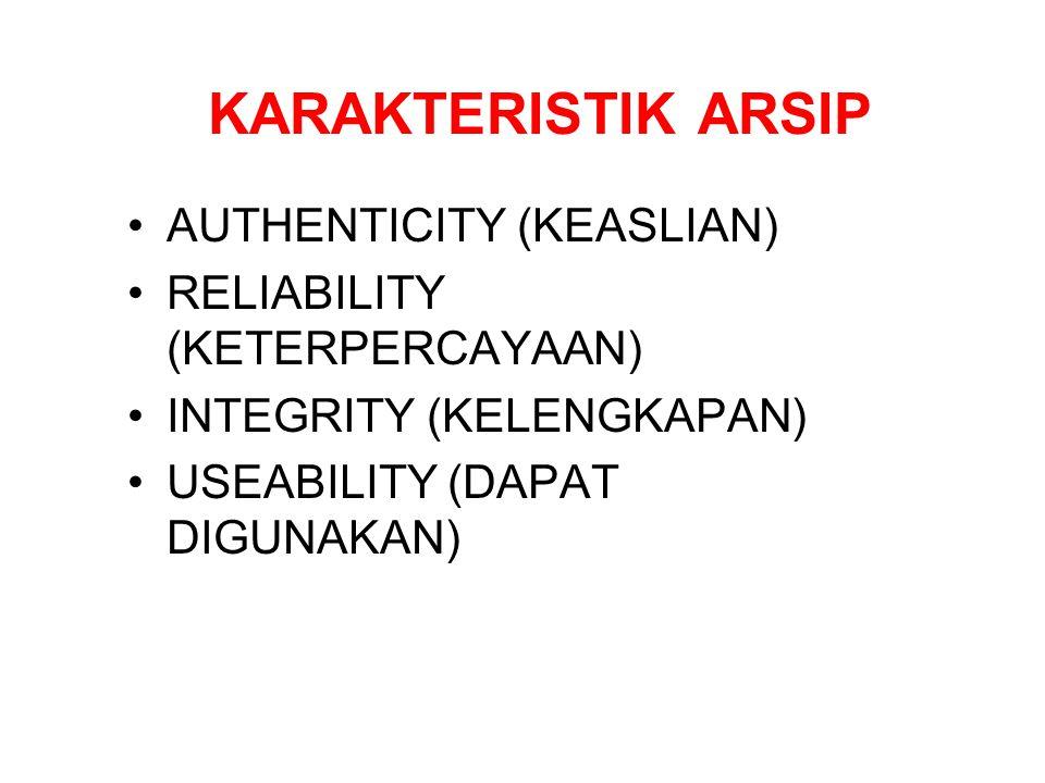 KARAKTERISTIK ARSIP AUTHENTICITY (KEASLIAN)