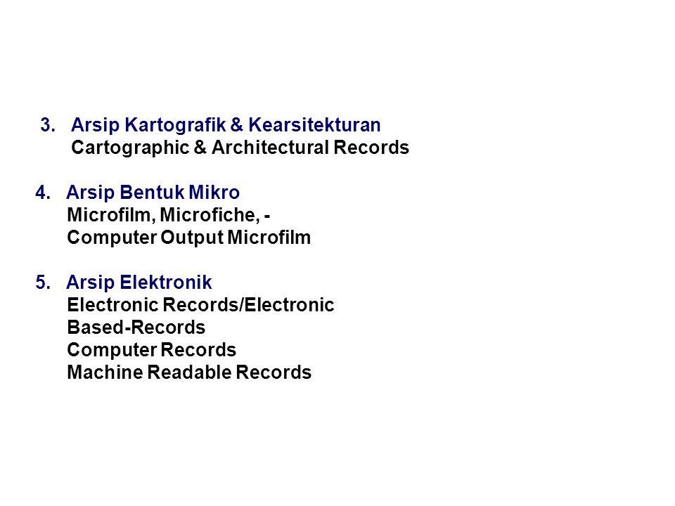 3. Arsip Kartografik & Kearsitekturan Cartographic & Architectural Records 4.