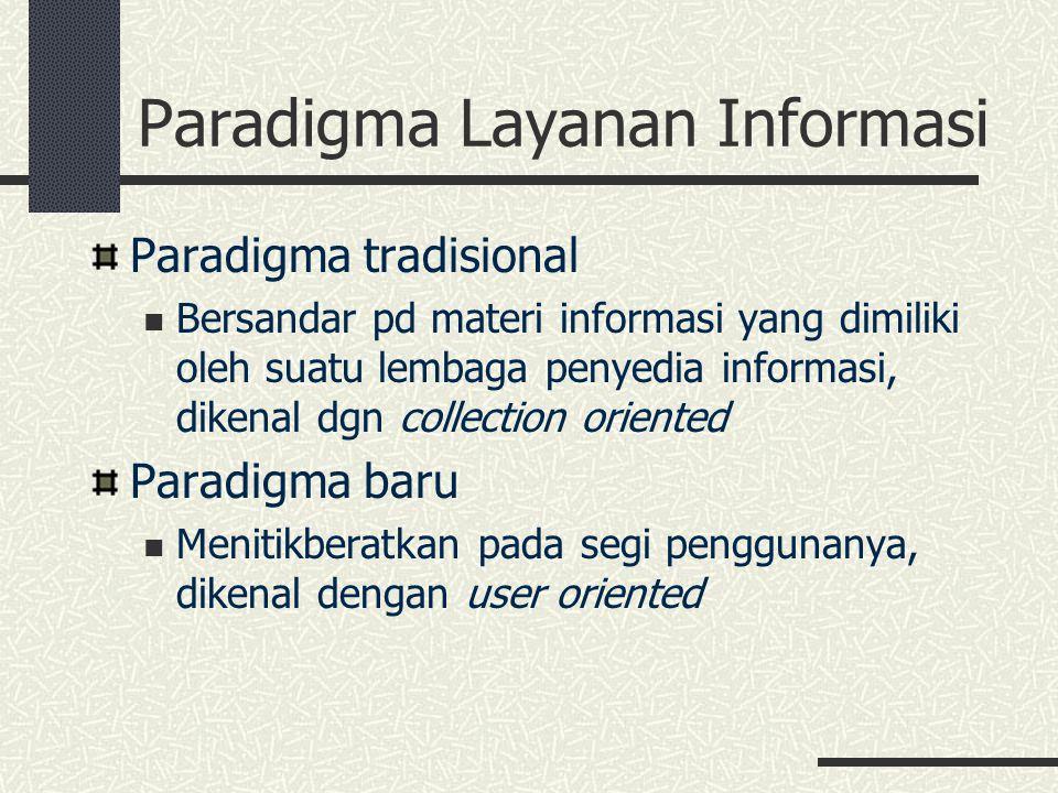 Paradigma Layanan Informasi