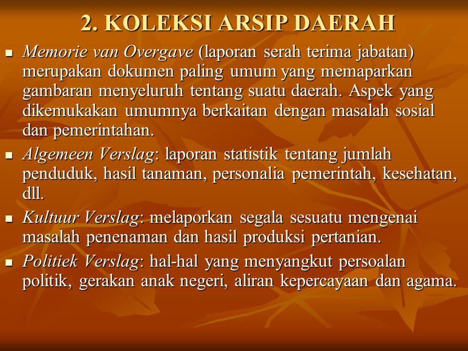 2. KOLEKSI ARSIP DAERAH