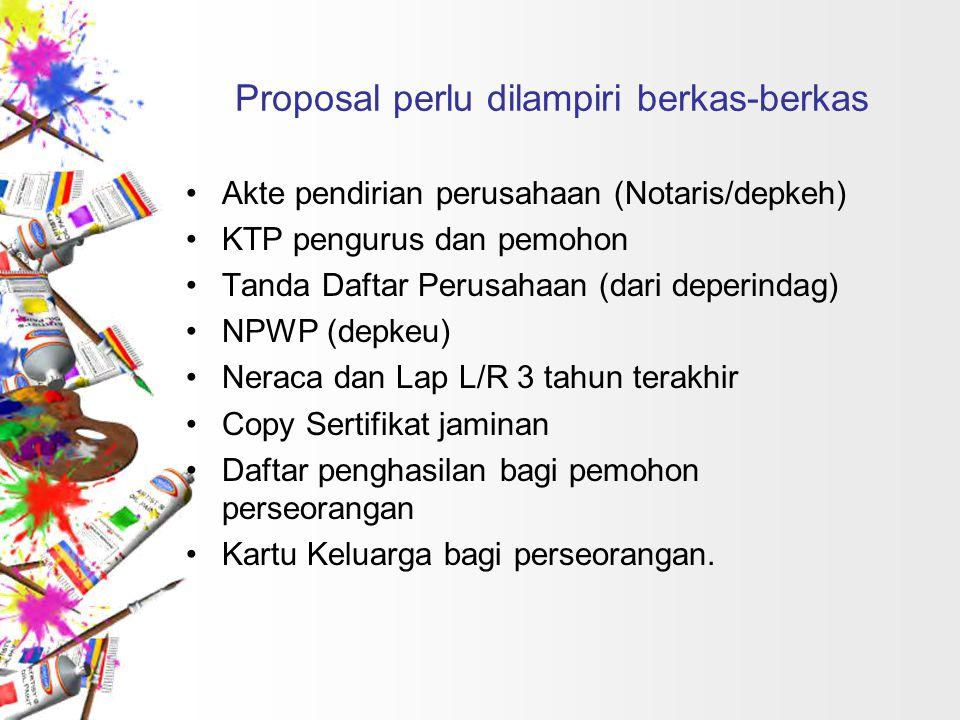 Proposal perlu dilampiri berkas-berkas