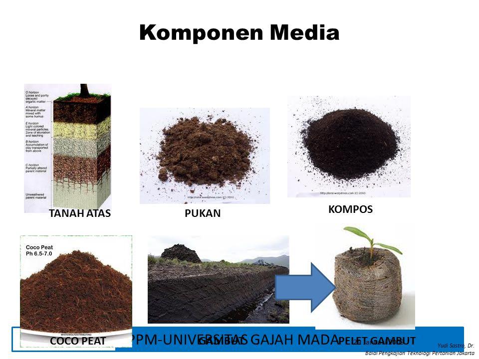 Komponen Media KOMPOS TANAH ATAS PUKAN COCO PEAT GAMBUT PELET GAMBUT