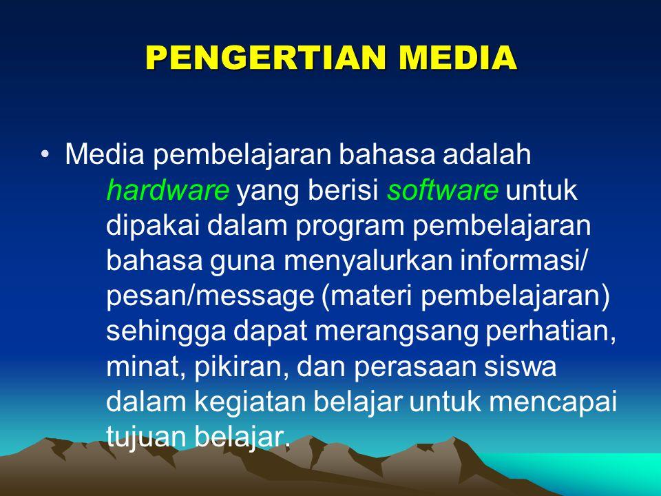 PENGERTIAN MEDIA