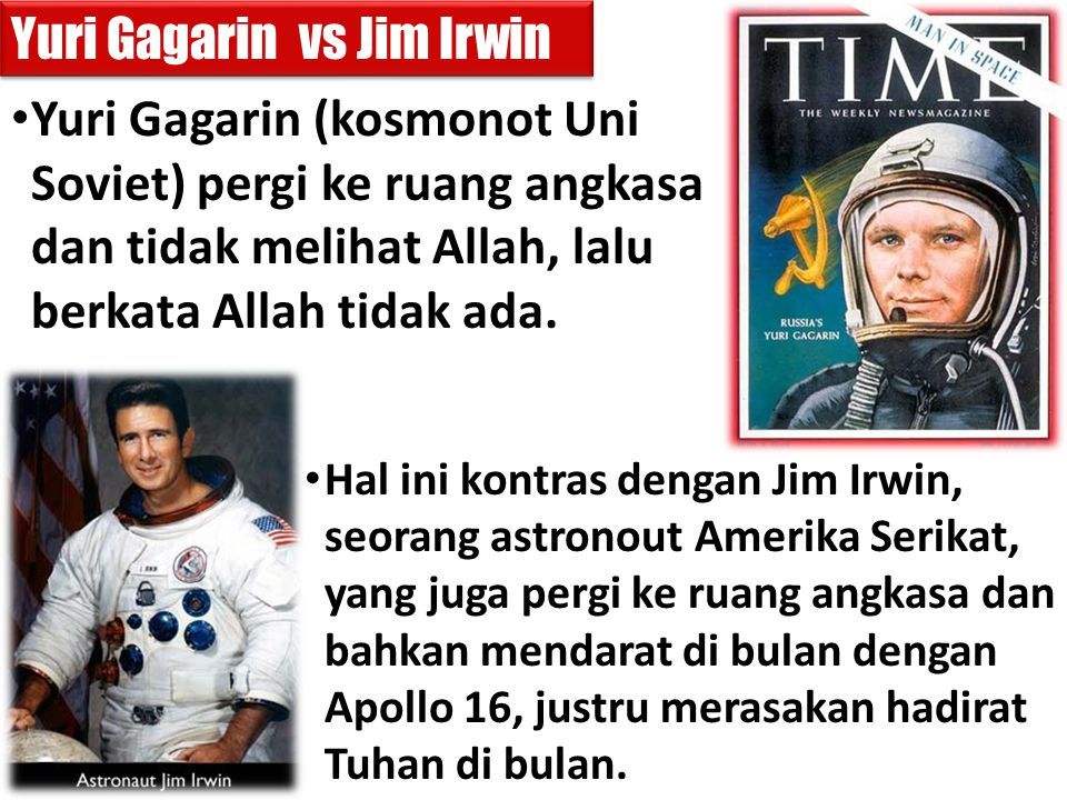 Yuri Gagarin vs Jim Irwin