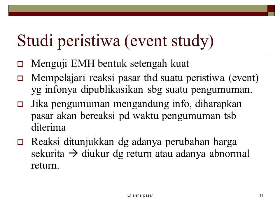 Studi peristiwa (event study)