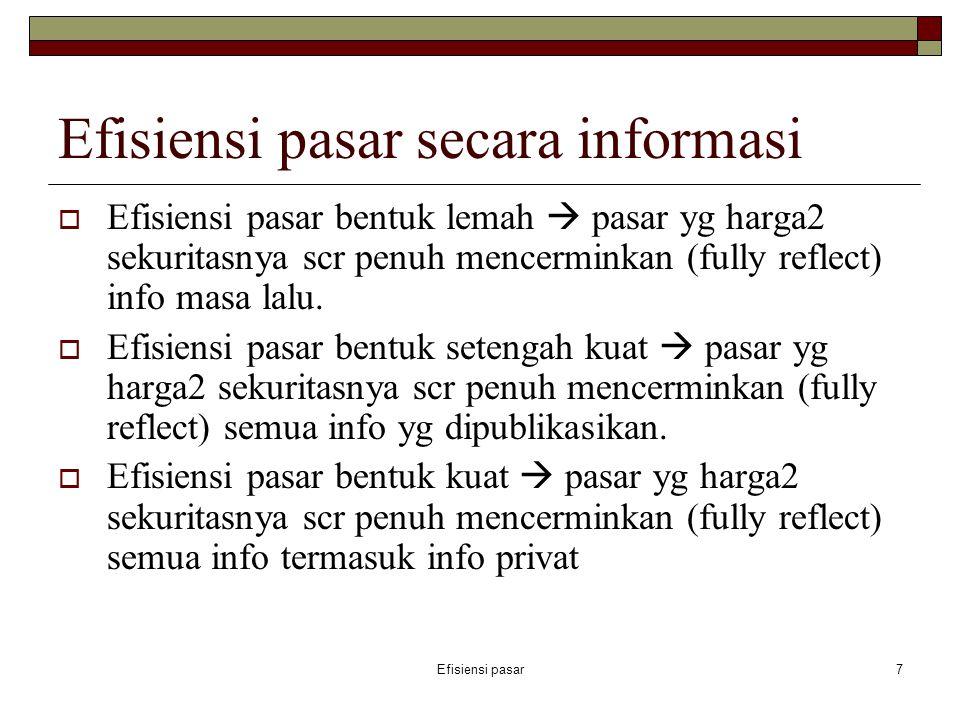 Efisiensi pasar secara informasi