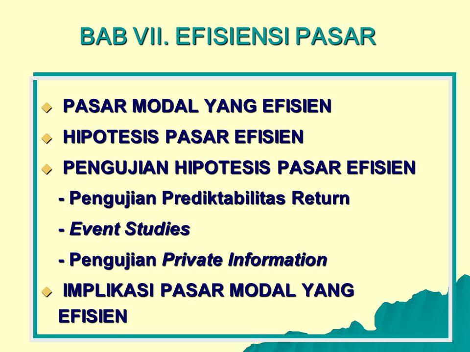 BAB VII. EFISIENSI PASAR