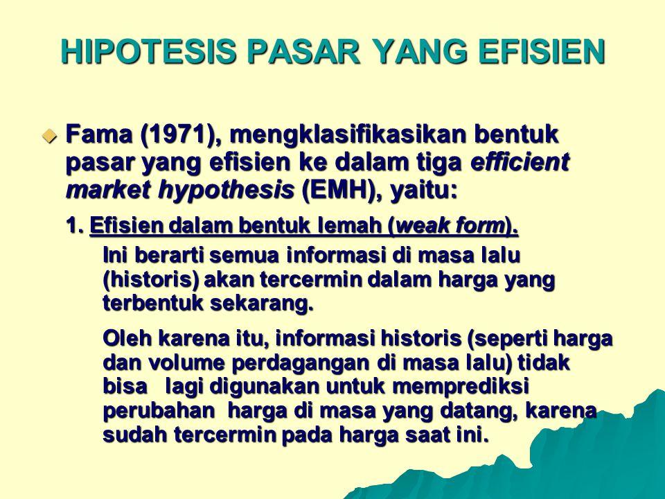 HIPOTESIS PASAR YANG EFISIEN