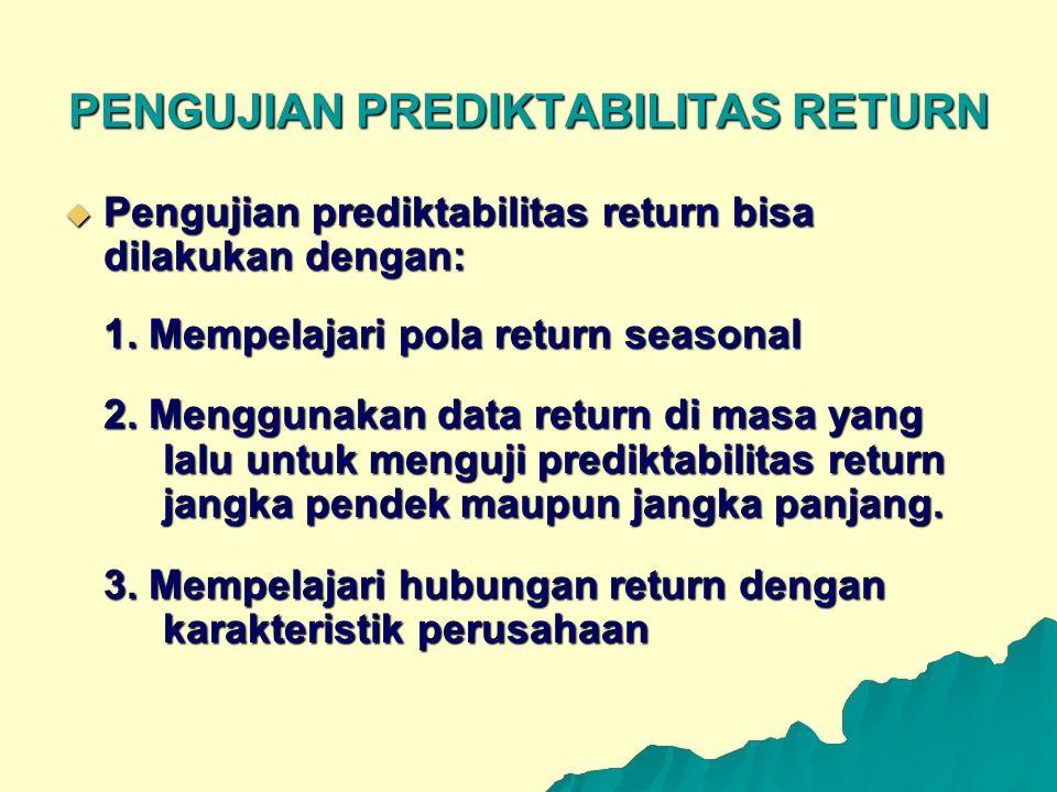 PENGUJIAN PREDIKTABILITAS RETURN