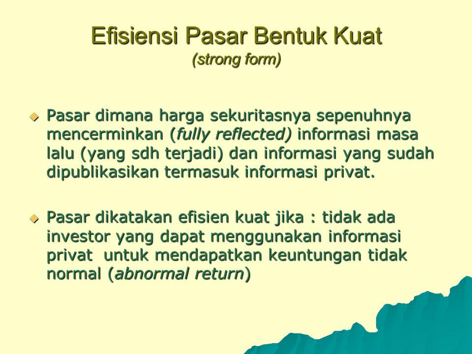 Efisiensi Pasar Bentuk Kuat (strong form)