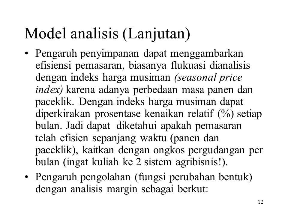 Model analisis (Lanjutan)