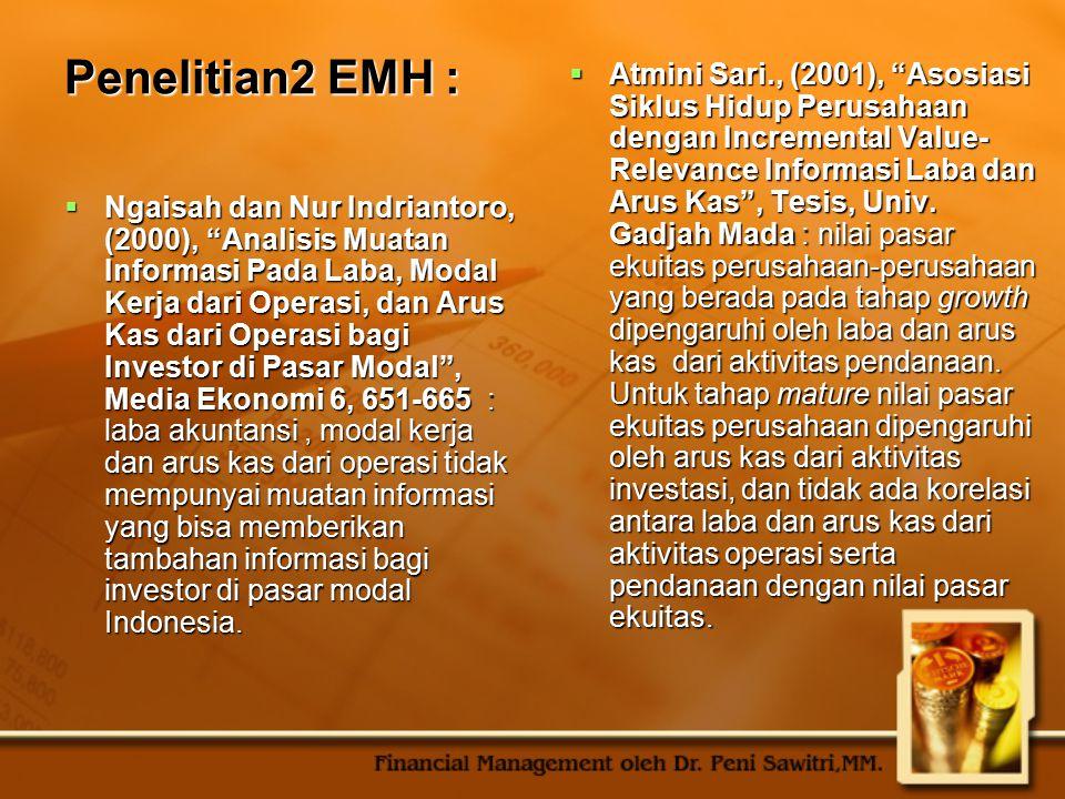 Penelitian2 EMH :