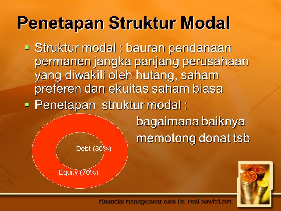 Penetapan Struktur Modal
