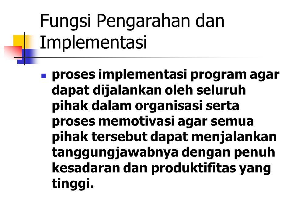 Fungsi Pengarahan dan Implementasi