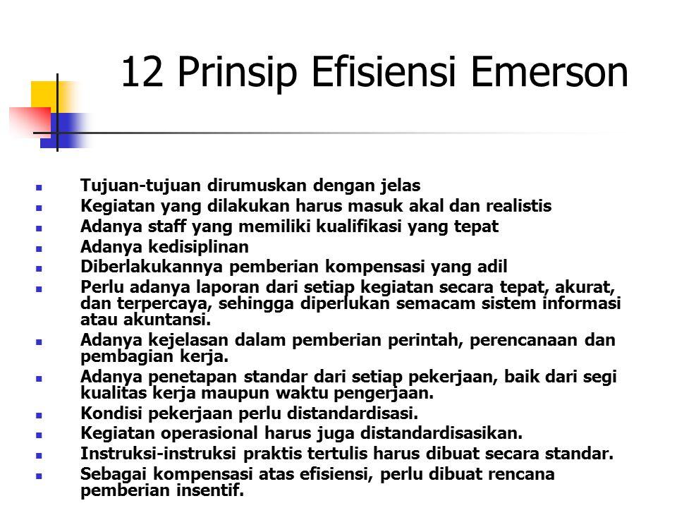 12 Prinsip Efisiensi Emerson